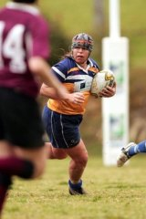 Caroline Layt playing for Sydney against Queensland in the Australian Rugby Union national championships final in 2007.
