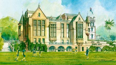 An artist's impression of the proposed $29 million Stevenson Library makeover.