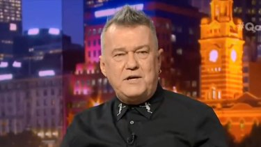 Jimmy Barnes on Monday night's Q&A.