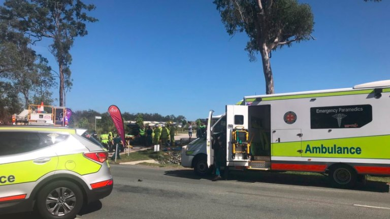 Rider dies after two-vehicle crash south of Brisbane