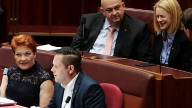 And then there were two ... One Nation's surviving senators, Pauline Hanson and Peter Georgiou.