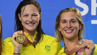 On board: Cate Campbell and Madeline Groves have been enthusiastic supporters of the ISL.