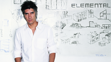 Chilean architect Alejandro Aravena.