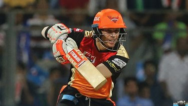 Back in action: David Warner returns to the Indian Premier League for Sunrisers Hyderabad after missing last year's tournament.