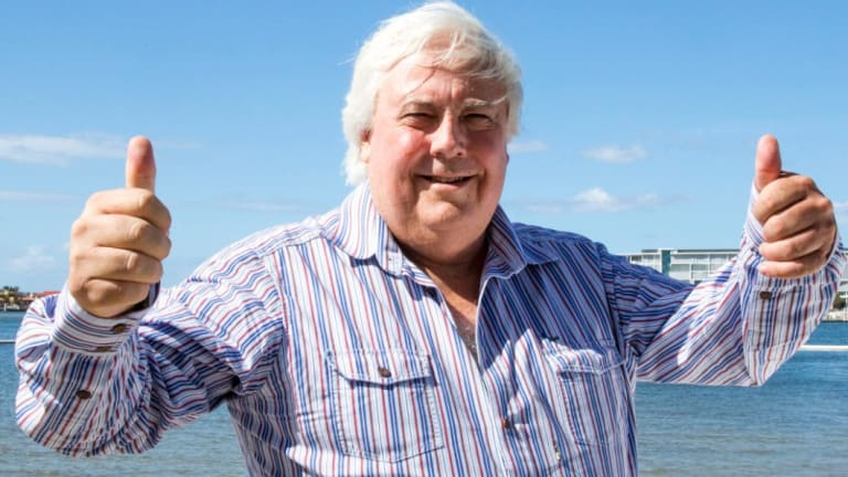 Clive Palmer used Facebook to announce his legal counterclaim on Thursday.