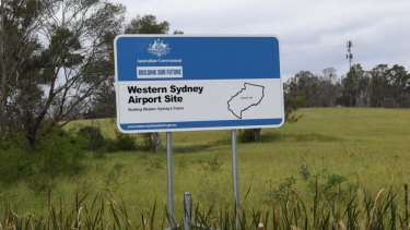 Badgerys Creek, western Sydney airport site.