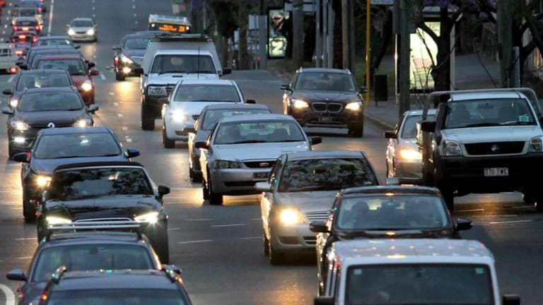 Traffic is delayed on the Pacific Motorway