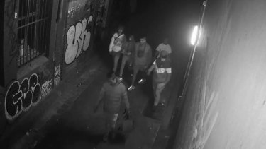 Police wish to speak to these six men in relation to a violent robbery where two women were assaulted in the CBD.