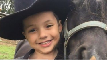 Harrison Sproule, 5, was hit by a truck in Picton on Friday night.