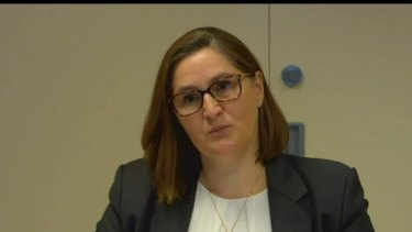 Crown chief risk officer Anne Siegers said she was not told about the report.