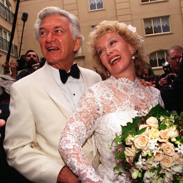 Bob and Blanche on their wedding day in 1995.