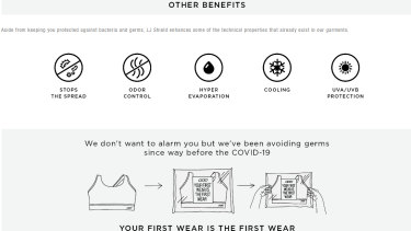 Original LJ Shield Activewear marketing material used by Lorna Jane.