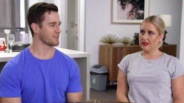 Matt and Lauren's awkward conversation.