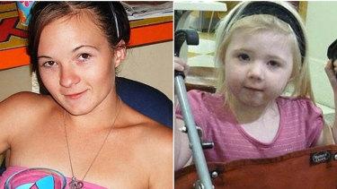 Karlie Jade Pearce-Steven and her daughter Khandalyce Kiara Pearce.