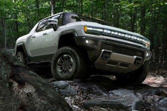 General Motors' electric Hummer pick-up truck,theGMC Hummer EV.