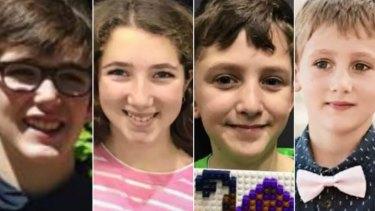 Rylan, 12, Taye, 13,  Arye, 10 and Kaydn, 8.
