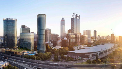 Futuristic design for Perth's west end revealed, but court fight with Woodside goes on