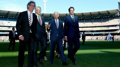 How Joe Biden fared at the footy in Melbourne