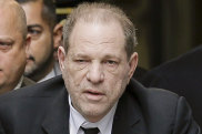 Harvey Weinstein hobbled into a New York court on a walker.