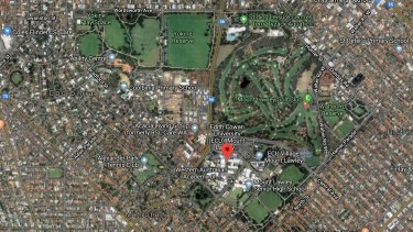 Satellite image of ECU Mount Lawley, which, under a proposal before the state government, would be sold and moved into the CBD.
