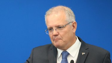 Scott Morrison announces the government's climate package at a function in Melbourne.