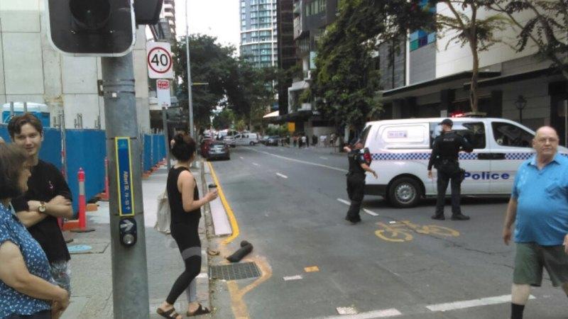 Man shot dead by police after disturbance in heart of Brisbane