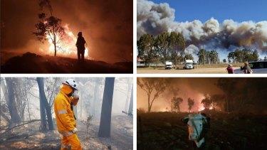 Queensland fires raged on the NSW/Queensland border last week.