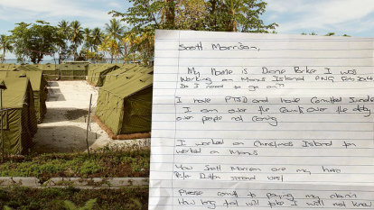 Manus guard pleads with Morrison to settle claim before taking life