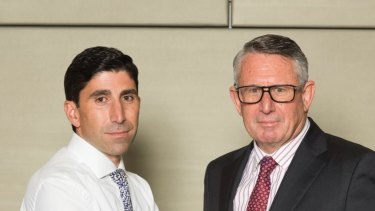 IOOF's chairman Allan Griffiths and  acting chief executive Renato Mota.