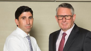 IOOF's acting chief executive Renato Mota and chairman Allan Griffiths.