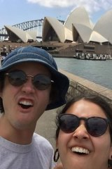 Viswanathan with her boyfriend Miles Robbins on their trip to Australia for Christmas 2018.
