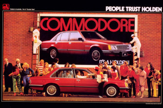An ad for the Holden Commodore in 1980, two years after its launch.