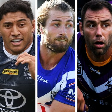 Mitchell Pearce, Jason Taumalolo, Kieran Foran, Cameron Smith and Tom Trbojevic.