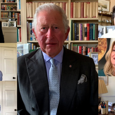 Prince Charles hosts a Zoom meeting with other senior members of the royal family to mark International Nurses Day.