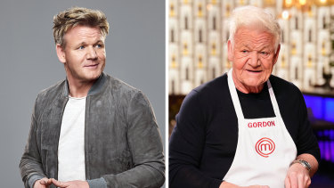 Gordon Ramsay goes from medium to well-done with the help of the Faceapp photo editing app.