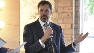 Shadow minister for the digital economy Ed Husic discusses Labor's commitment to startups at an event in Sydney on Tuesday.