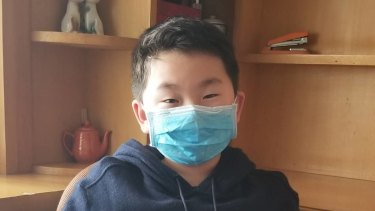 Eight-year-old Turramurra Primary School student Eason Shen is trapped in Hubei.