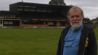 Martin Flanagan on the Longford ground where he played his first game at the age of six.