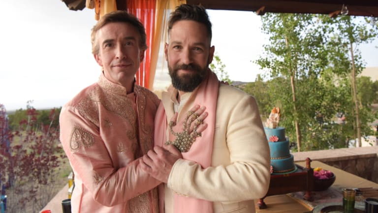Steve Coogan (left) as Erasmus and Paul Rudd as Paul in Andrew Fleming's comedy Ideal Home.