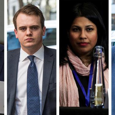 Conservative players: Michael Sukkar, Marcus Bastiaan, Karina Okotel and Michael Kroger.