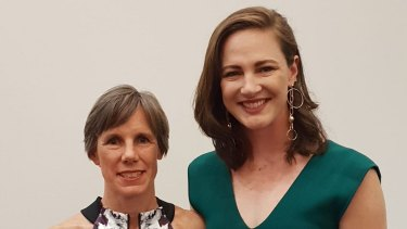 Australian swimmer Cate Campbell with her mother Jenny.