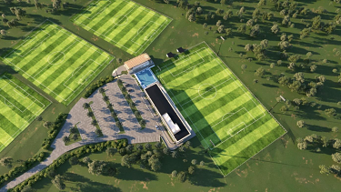 Sky Park: An artist's impression of Sydney FC's new training facility at Maquarie University.