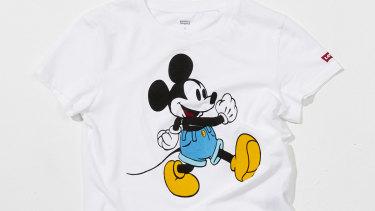 Happy birthday, Mickey! Levi's x Mickey Mouse T-shirt.
