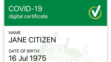 The COVID-19 digital certificate you can download through mygov after linking your account with Medicare.