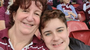 Long-time Manly member Sharon Kennedy and her son Andrew, 13, have been chosen to be among the first fans to return to the NRL for the Sea Eagles clash against the Broncos.