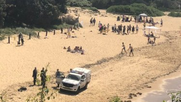 Malabar Beach after the package was found.