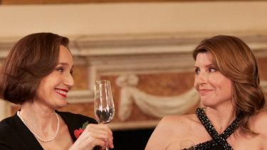 Kristin Scott Thomas and Sharon Horgan star in Military Wives.