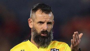 NRL referee Gavin Badger has been dropped.