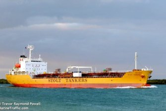 The Stolt Sakura oil and chemical tanker.