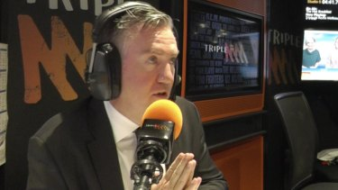 'What have I done to this wonderful  person': Eddie McGuire on air Monday morning.